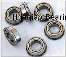 Metric chrome steel stainless steel flange bearing F683ZZ 3x7x3mm abec-1 to abec-7 C0 radial clearance
