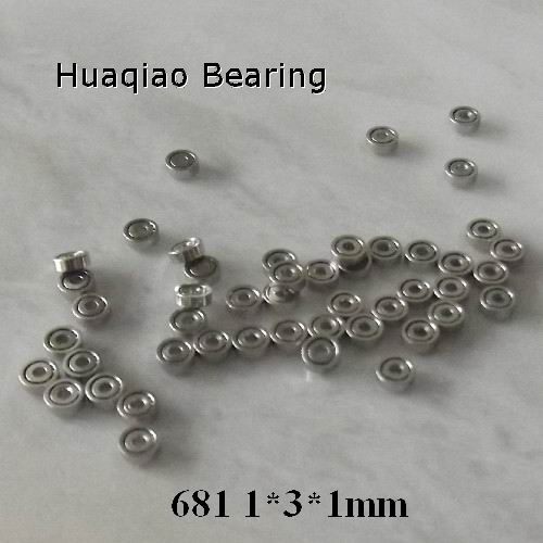 smallest stainless steel  radial ball bearing 681 with dimension 1*3*1mm