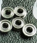 Metric chrome steel stainless steel flange bearing MF74ZZ 4X7X2.5mm abec-1 to abec-7 C0 radial clearance