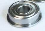 Metric chrome steel stainless steel flange bearing F608ZZ 8X22X7mm abec-1 to abec-7 C0 radial clearance